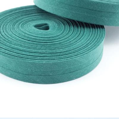 Schrägband grün aus Baumwolle 20mm