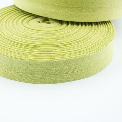 Schrägband lime aus Baumwolle 20mm