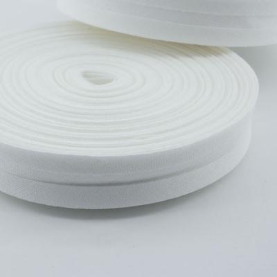Schrägband weiß aus Baumwolle 20mm