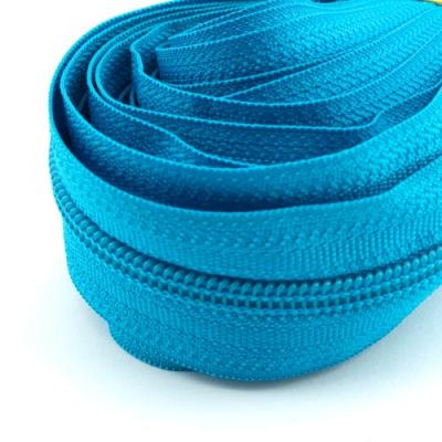 5 Meter Endlosreißverschluss azurblau 5mm