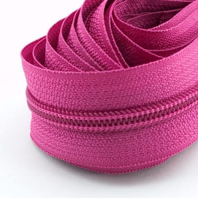 5 Meter Endlosreißverschluss pink 5mm