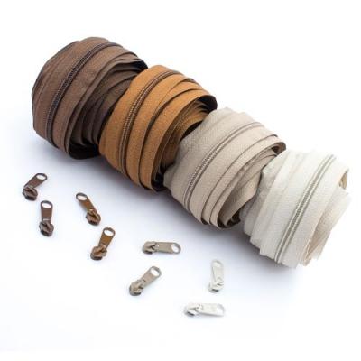 Reißverschluss-Set braun 5mm