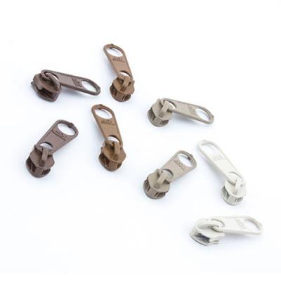 8 Schieber für Reißverschluss-Set braun 5mm