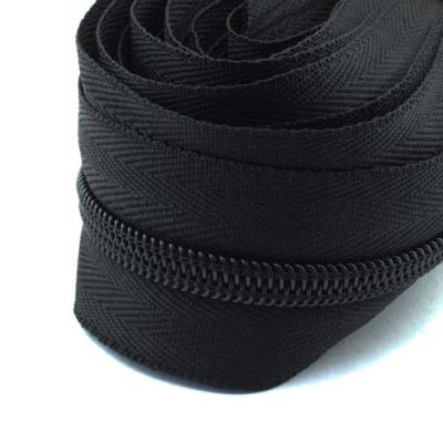 5m Endlosreißverschluss schwarz 8mm