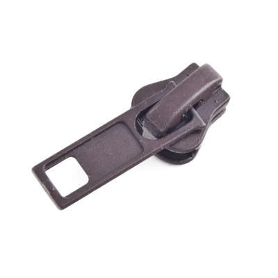 10 Stück Schieber dunkelbraun für 5mm Profil-Reißverschluss