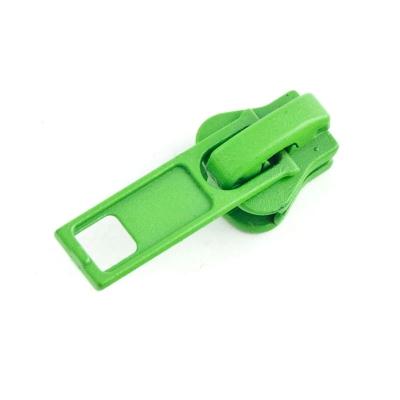 10 Stück Schieber grün für 5mm Profil-Reißverschluss