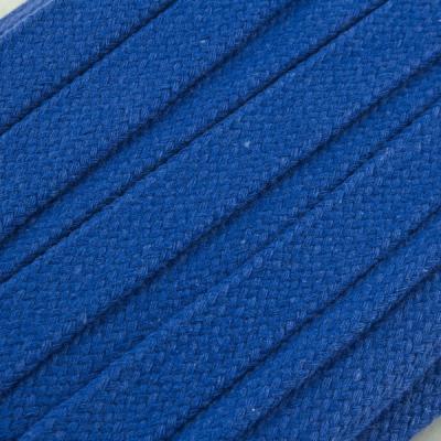 Flachkordel Hoodiekordel blau 20mm Baumwolle