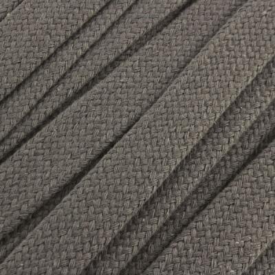 Flachkordel Hoodiekordel grau 20mm Baumwolle