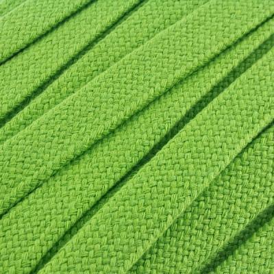 Flachkordel Hoodiekordel lime 20mm Baumwolle