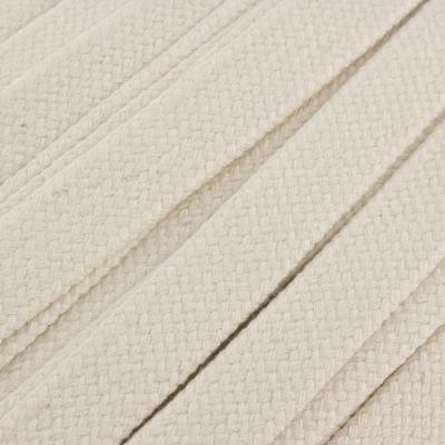 Flachkordel Hoodiekordel rohweiß 20mm Baumwolle