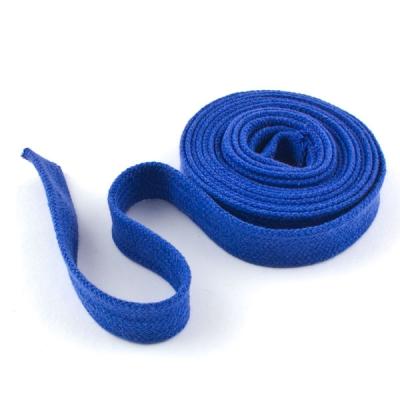 Flachkordel Hoodiekordel blau 15mm Baumwolle
