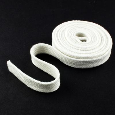 Flachkordel Hoodiekordel rohweiß 15mm Baumwolle