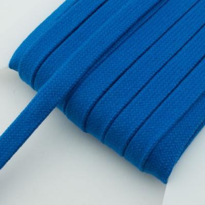 Flachkordel blau 15mm Baumwolle