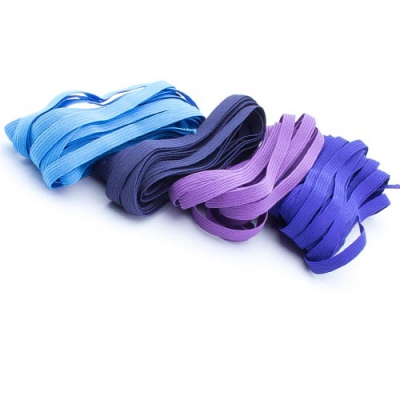 20m Gummiband-Set 7mm Mix blau