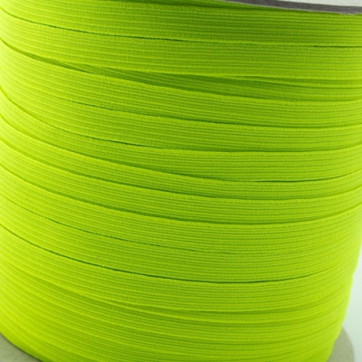 100m Gummiband 7mm neon gelb