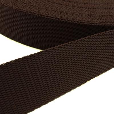 Hochwertiges Gurtband braun 25mm