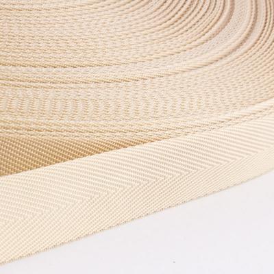 Polypropylen-Einfassband Köperband beige 25mm