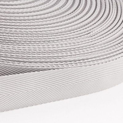 Polypropylen-Einfassband Köperband hellgrau 25mm