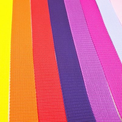 8 x 1m Gurtband-Mix 30mm Made in Germany gelb, rot. lila