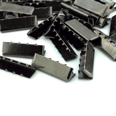10 Stück Gurtband Endstück 30mm schwarz brüniert