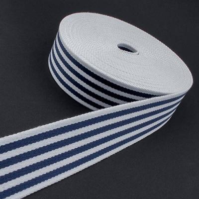 Taschengurt Gürtelband weiß dunkelblau