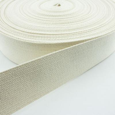 Gurtband Baumwolle natur roh 40mm