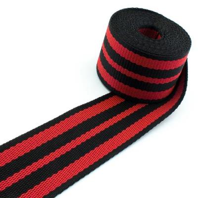 Gurtband schwarz rot 50mm