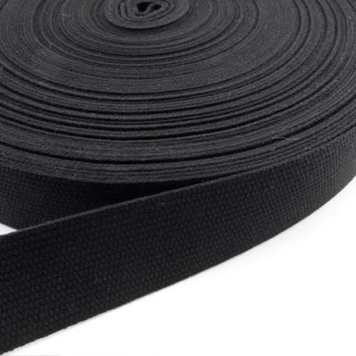 Gurtband Baumwolle schwarz 25mm
