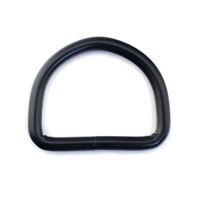 D-Ring schwarz 20 x 16mm geschweißt