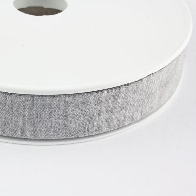 Jersey-Schrägband 20mm hellgrau meliert