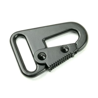 Karabinerhaken 25mm schwarz für Schlüsselanhänger