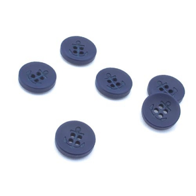 Knopf Anker blau 15mm 4-Loch