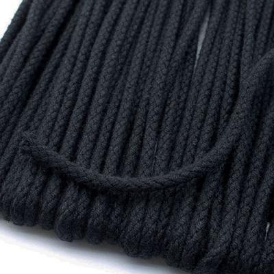 Baumwollkordel schwarz 3mm
