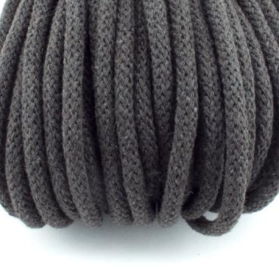 Baumwollkordel schwarzbraun 5mm mit Kern