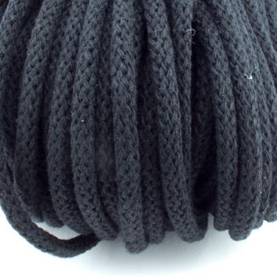 Baumwollkordel schwarz 5mm mit Kern