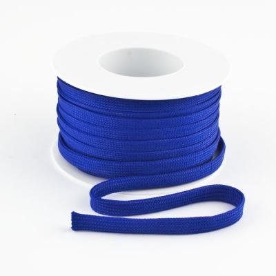 Flachkordel 10mm Polyester blau