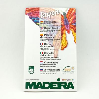 Madeira Rayon No.40 Farbkarte gedruckt gratis