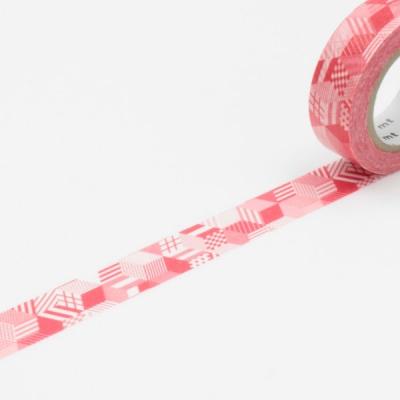 10m Washi Tape 15mm Box Red