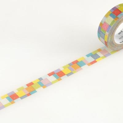 10m Washi Tape 15mm Mosaic Bright