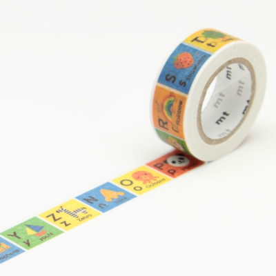 7m washi tape 15mm kids alphabet n z online kaufen. Black Bedroom Furniture Sets. Home Design Ideas