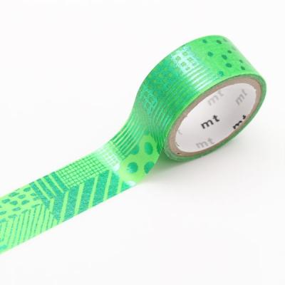 3m Washi Tape mt fab 15mm Script Green