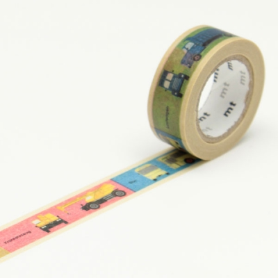 7m washi tape 15mm kids vehicle online kaufen. Black Bedroom Furniture Sets. Home Design Ideas