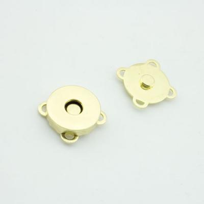 10 Magnetknöpfe gold 18mm