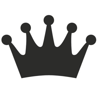 Motivstanzer groß Krone 2,5cm