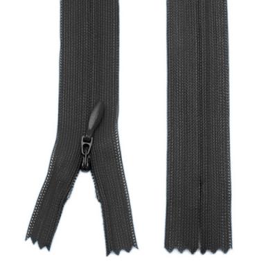 Nahtverdeckter Reißverschluss 60cm schwarz