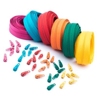 18m Opti Reißverschluss Set 6 Farben