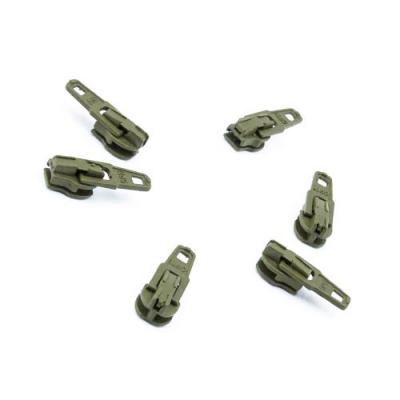 Opti Reißverschluss-Schieber 3mm khaki Col. 5761