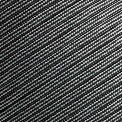 15m Paracord 550 Typ III black & silver grey stripes