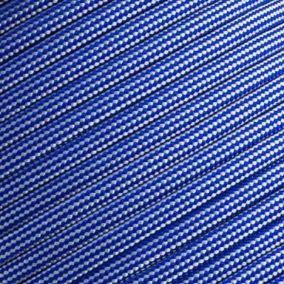15m Paracord 550 Typ III electric blue & silver grey stripe