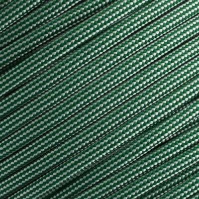 15m Paracord 550 Typ III kelly green & silver grey stripe